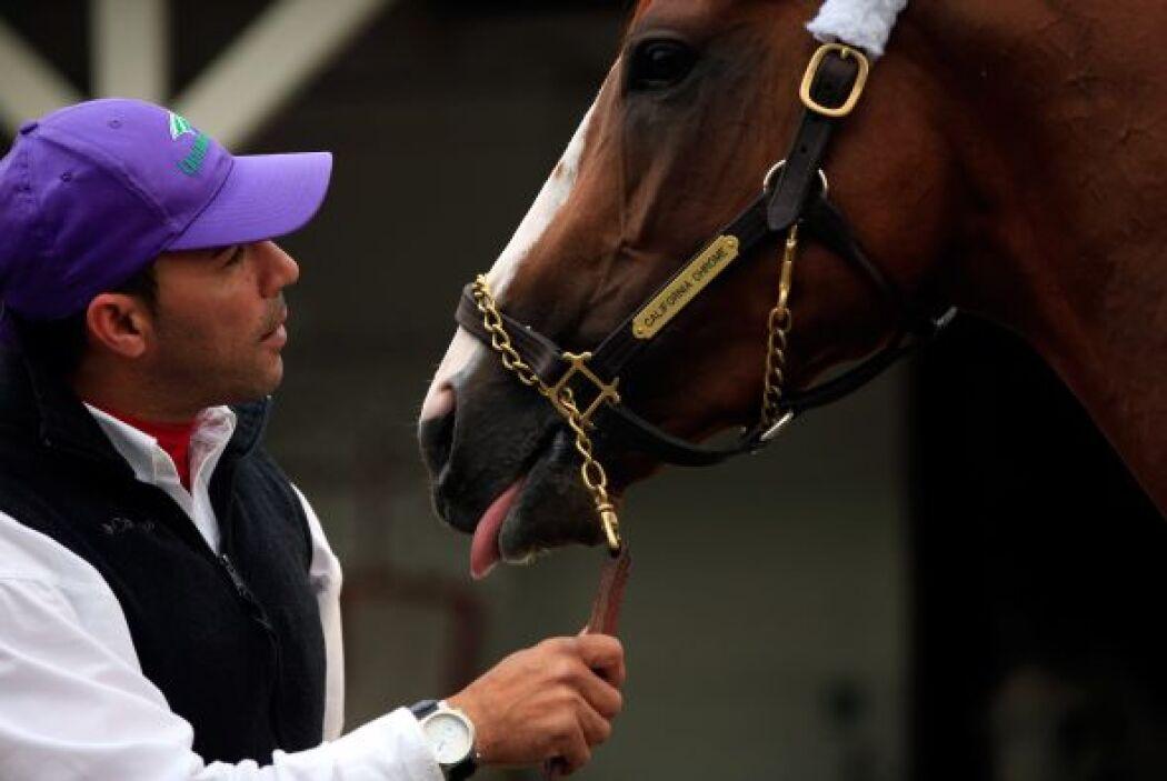 """""""Él no dejará que ningún otro caballo lo rebase"""", dijo su entrenador."""