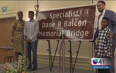 Renombran puente en honor de militar fallecido