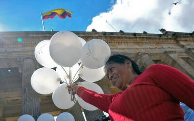 'Implementación ya', era la consigna de los colombianos que apoya...