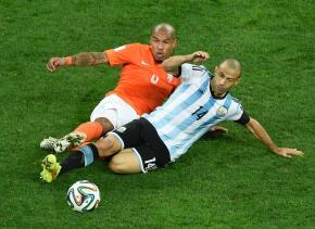 Nigel de Jong jugó dos Mundiales con Holanda.