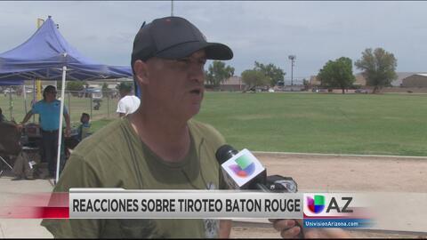 Reacciones en Arizona sobre el tiroteo en Baton Rouge