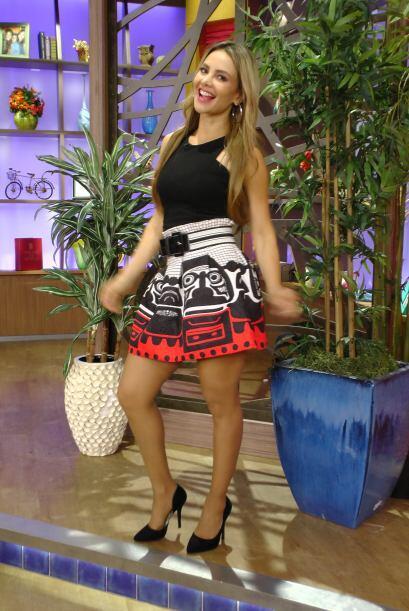 Así lució Ximena Córdoba este lunes, linda y fresca para iniciar la semana.