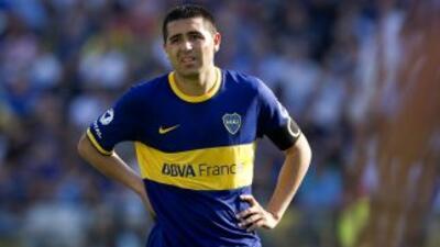 Riquelme volvió a lesionarse y se despidió del 2013, un desgarro en el a...