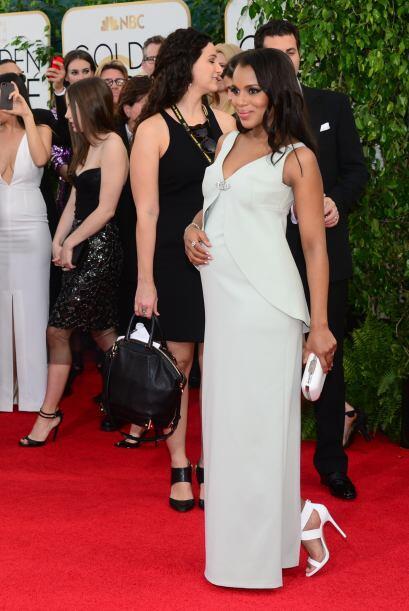 Kerry Washington luce maravillosa embarazada y dejó claro, que au...