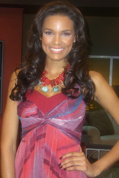 La dominicana Ada Aime, ganadora del segundo lugar en Miss Universo 2009...