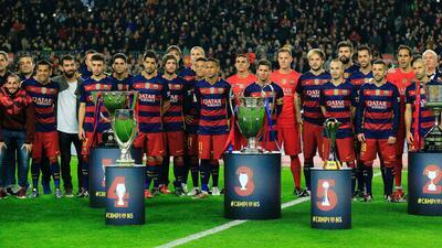 FC Barcelona con todos sus títulos del 2015