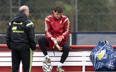 Vicente del Bosque e Iker Casillas