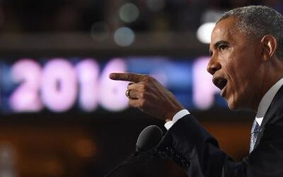 Obama rebate el discurso pesimista y excluyente de Donald Trump