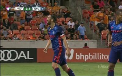 Goooolll!! David Villa Sánchez mete el balón y marca para New York City FC