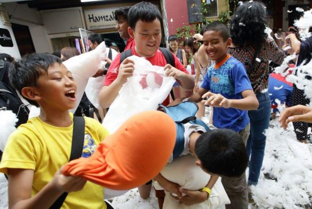 Durante la jornada la euforia de los participantes estaba al cien.