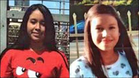 Candy Flores y Caterin Michelle López, ambas de 13 años de...