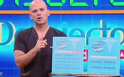 El Dr. Rivera nos explicó la diferencia entre el colesterol bueno y el c...