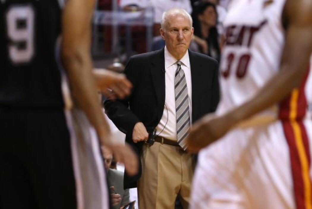 Greg Popovich no pudo parar a la explosiva ofensiva del Heat en esta oca...