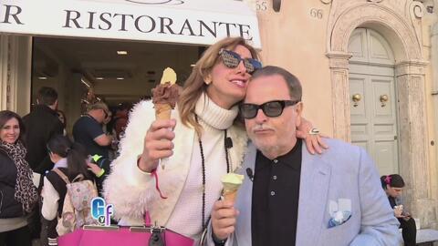 Raúl llevó a Lili de compras en el corazón de Roma