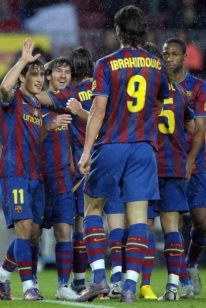 Y finalmente Pedro y Messi, por segunda ocasión, concretaron el 4...
