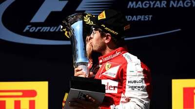 Vettel ganó en Hungría, Alonso fue quinto y Hamilton sigue líder GettyIm...