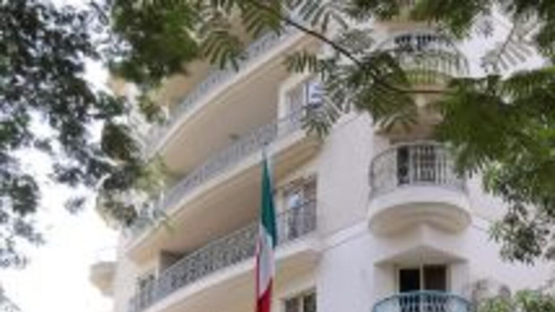 Embajada de México en El Cairo.