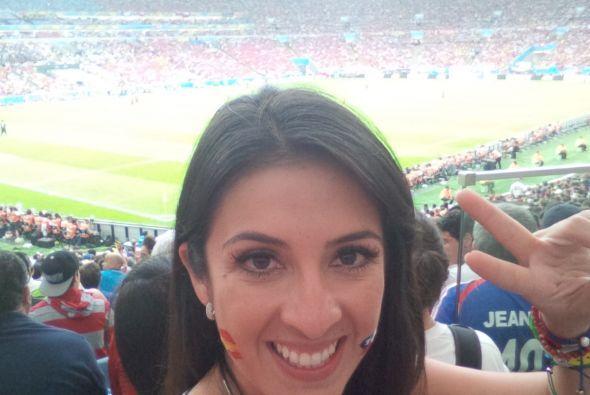 Ella seguirá disfrutando del mundial, trayendo lo mejor de Brasil para e...