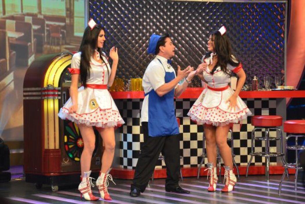 Las dos bellas llegaron al escenario para tratar de convencer con su act...