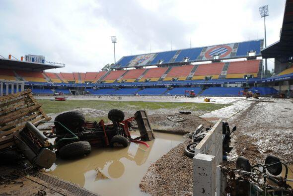 El estadio de fútbol de la Mosson, donde juega el Montpellier de...