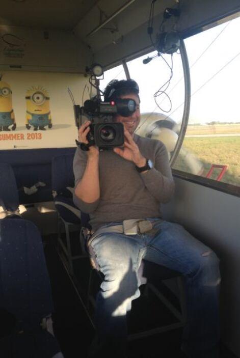 El que estuvo un poco nervioso fue su camarógrafo.