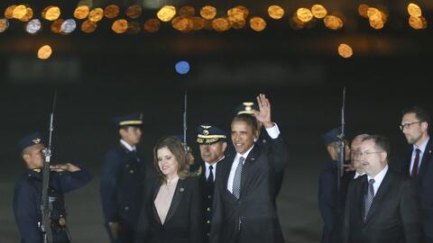 Llegada de Barack Obama a Lima, Perú