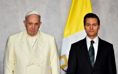 Papa y Peña Nieto