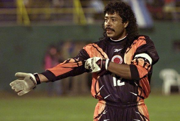 René Higuita, portero de Colombia en 1990, usaba siempre un calzo...