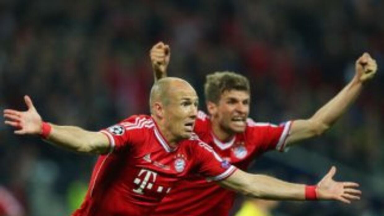 Robben hizo el gol del triunfo de Bayern.