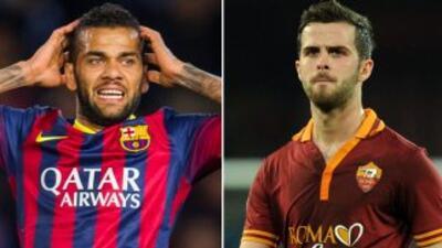 El brasileño Alves y el bosnio Pjanic parecen ser los nuevos objetivos d...