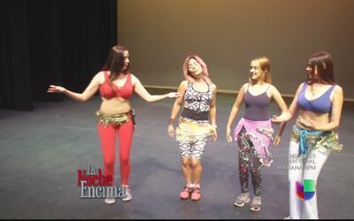 Glerys se fue a poner ready bailando belly dance
