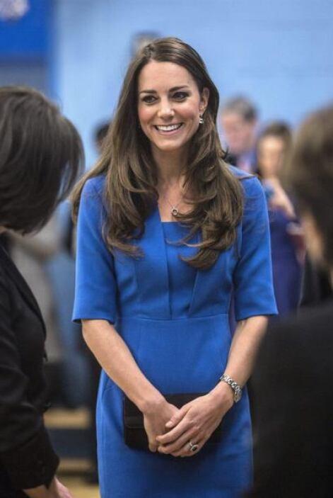 Con esa sonrisa que la caracteriza, Middleton de 32 años arribó a la esc...