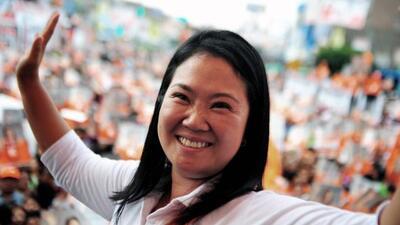 Keiko Fujimori busca la presidencia de Perú.