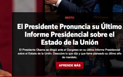 La web de la Casa Blanca bajo la presidente de Barack Obama inclu&iacute...