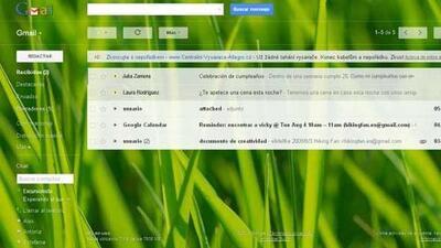Una de las nuevas características de Gmail es que hay temas nuevos. (Fot...