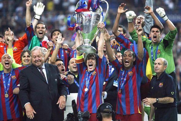 Barcelona logró su segunda 'Champions' en 2006, de la mano de Ron...