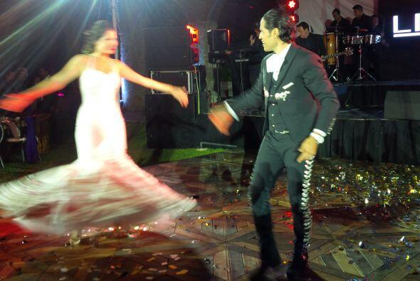 Aunque la foto no es la mejor, se nota cómo lució el vesti...