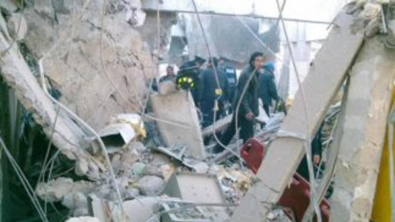 Explosión en Cuajimalpa (Imagen tomada de Twitter).