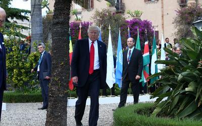 Donald Trump este sábado en Taormina (Sicilia) en la cumbre del G7
