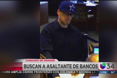 Férrea búsqueda de asaltante de bancos