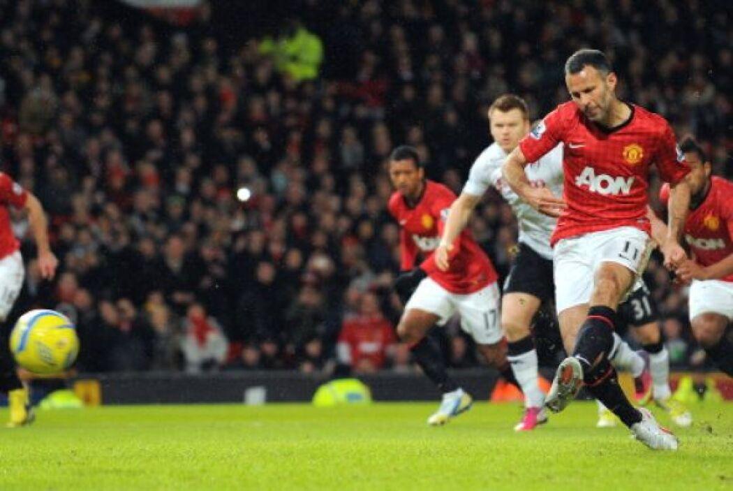 A los dos minutos de partido Brian Giggs adelantó al Manchester United a...