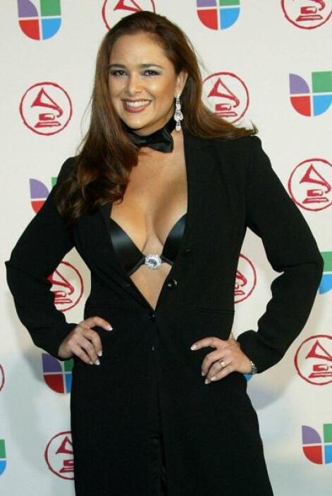 Jessica Fox no se quiso quedar atrás y así llegó a la alfombra de Latin...