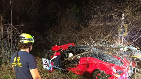Accidente Ferrari 458 Speciale en Texas
