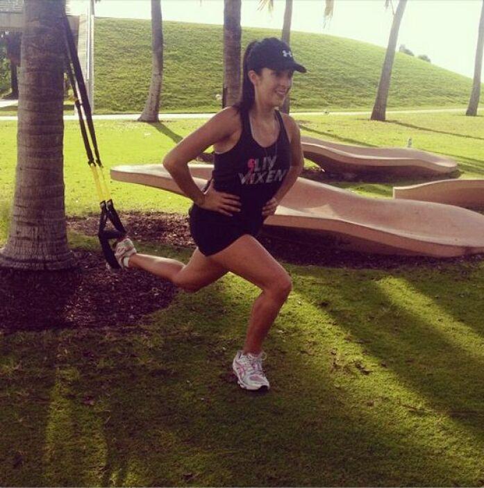"""#sunday #workout with @stellashalem #asudarsehadicho"", compartió Maity..."