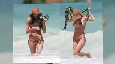 Irina Shayk deslumbra en bikini