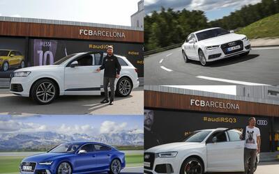 Audi entregó sus autos a las figuras del Barcelona