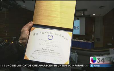 Aurora, víctima en San Bernardino, recibe su diploma de manera póstuma