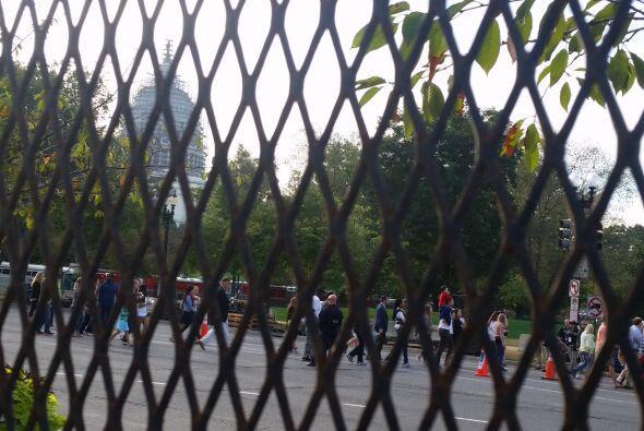 Capitolio secuestrado ante la visita del papa Francisco. (Foto por José...