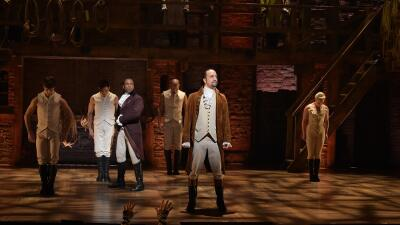 Los protagonistas del musical 'Hamilton'.