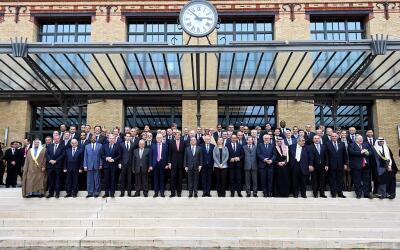 Asistentes a la cumbre de París del 15 de enero de 2017.